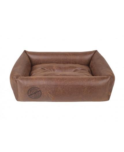 Panier sofa pour chien en cuir synthétique