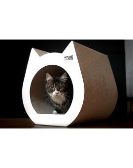 Griffoir maison pour chat en carton ondulé design