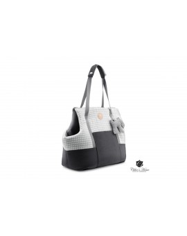 Sac de transport chat Chihuahua Bichon Pinscher gris