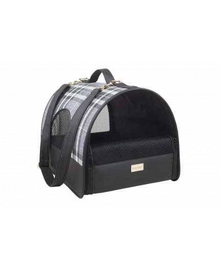 sac de transport noir chat Chihuahua Bichon Pinscher